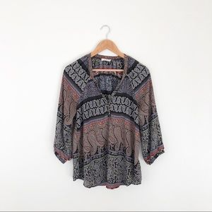 Lush Patterned Blouse